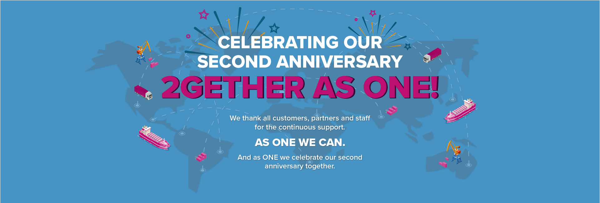 ONE second anniversary