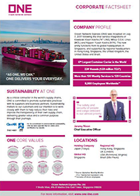 ONE_Corporate_Factsheet